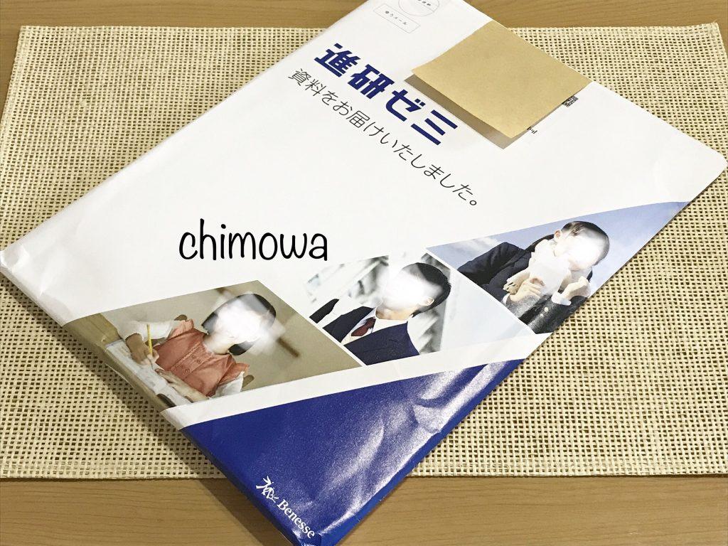 進研ゼミ小学講座(チャレンジ)から届いた無料資料開封前の写真